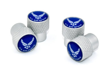 Air Force Valve Stem Caps - Matte Knurling