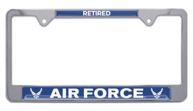 Full-Color Air Force Retired License Plate Frame