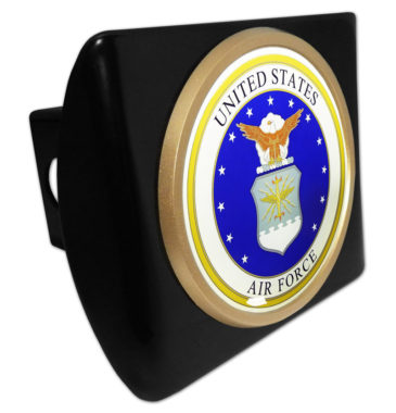 Air Force Seal Emblem on Black Hitch Cover