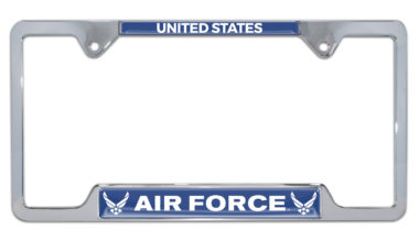 Full-Color US Air Force Open License Plate Frame