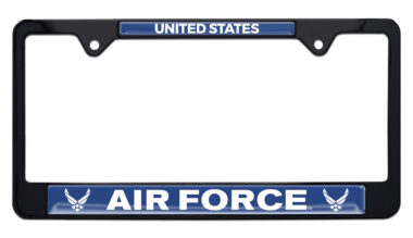 Full-Color US Air Force Black License Plate Frame