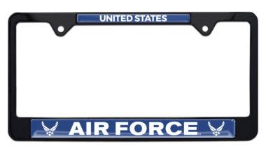 Full-Color US Air Force Black License Plate Frame image