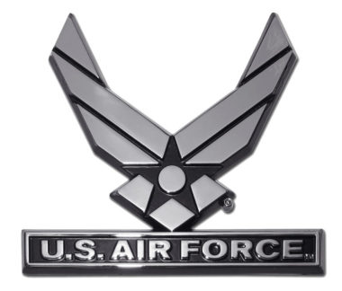 Air Force Wings Chrome Emblem