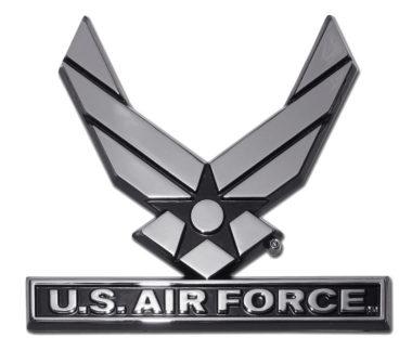 Air Force Wings Chrome Emblem
