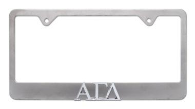 Alpha Gamma Delta Matte License Plate Frame image