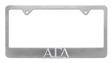 Alpha Gamma Delta Matte License Plate Frame