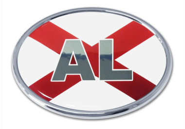 Alabama Flag Chrome Emblem