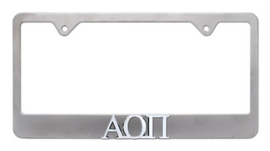 Alpha Omicron Pi Matte License Plate Frame