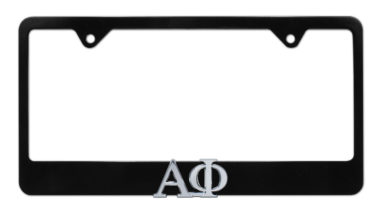Alpha Phi Black License Plate Frame