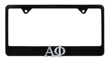 Alpha Phi Black License Plate Frame image