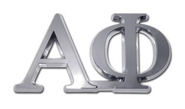 Alpha Phi Chrome Emblem