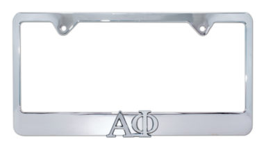 Alpha Phi Chrome License Plate Frame image