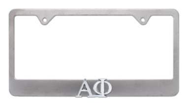 Alpha Phi Matte License Plate Frame