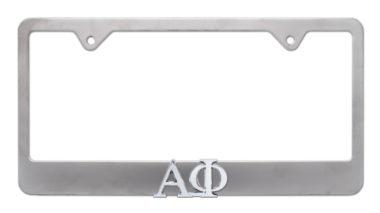 Alpha Phi Matte License Plate Frame