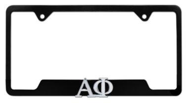 Alpha Phi Sorority Black Open License Plate Frame image