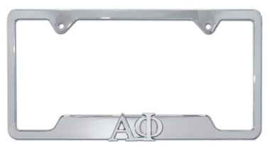 Alpha Phi Sorority Chrome Open License Plate Frame