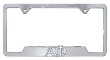 Alpha Phi Sorority Chrome Open License Plate Frame
