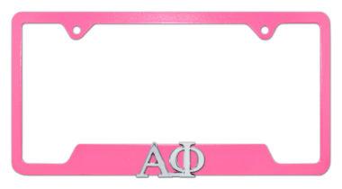 Alpha Phi Sorority Pink Open License Plate Frame