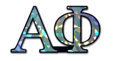 Alpha Phi Reflective Decal  image