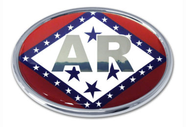 Arkansas Flag Chrome Emblem