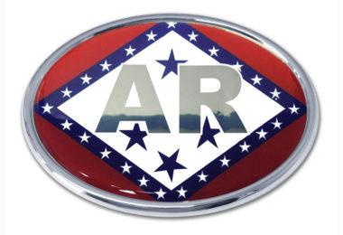 Arkansas Flag Chrome Emblem