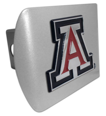 Arizona Emblem (w/ Color) on Brushed Hitch Cover