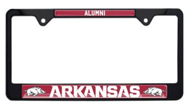 Arkansas Alumni Black License Plate Frame