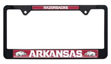 Arkansas Razorbacks Black License Plate Frame