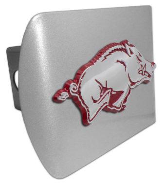 University of Arkansas Red Running Hog Brushed Hitch Cover