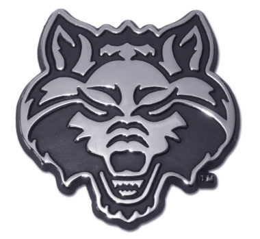 Arkansas State Red Wolf Chrome Emblem
