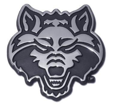 Arkansas State Red Wolf Chrome Emblem