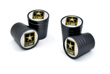 Army Valve Stem Caps - Black Smooth