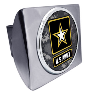 Army Camo Chrome Hitch Cover