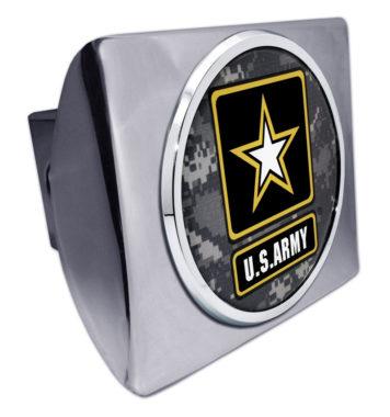 Army Camo Chrome Hitch Cover image