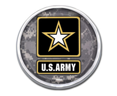 Army Camo Chrome Emblem