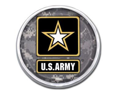 Army Camo Chrome Emblem