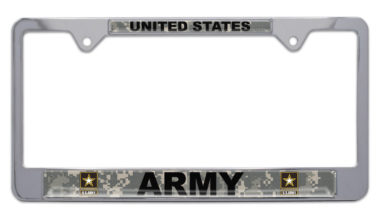 Full-Color Camo US Army License Plate Frame image