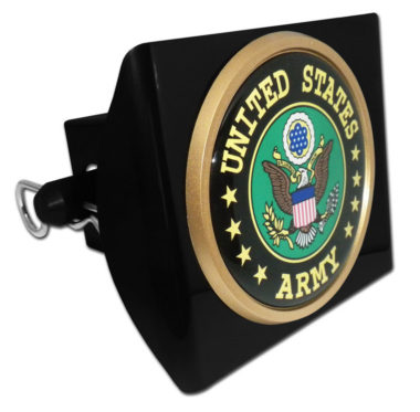 Army Eagle Emblem on Black Plastic Hitch Cover image