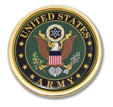 Army Eagle Auto Emblem
