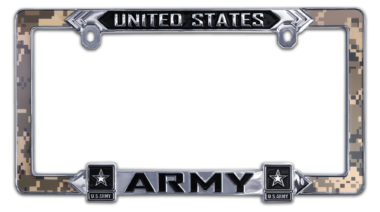 Army 3D License Plate Frame