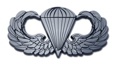 Army Parachute Chrome Emblem