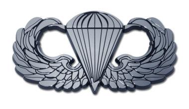 Army Parachute Chrome Emblem