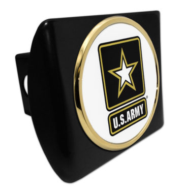 Army Seal Emblem on Black Hitch Cover