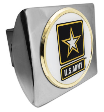 Army Seal Emblem on Chrome Hitch Cover