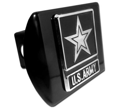 Army Emblem on Black Hitch Cover