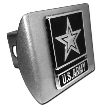 Army Emblem on Brushed Hitch Cover
