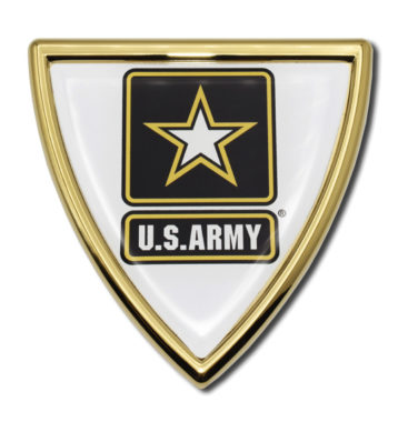 Army Shield Chrome Emblem
