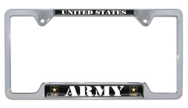 Full-Color US Army Open License Plate Frame