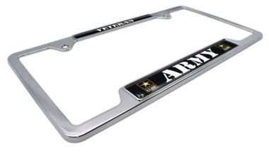 Army Veteran Open License Plate Frame image