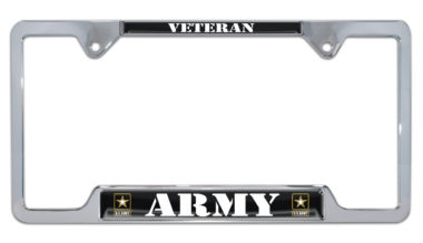 Full-Open Army Veteran Open License Plate Frame